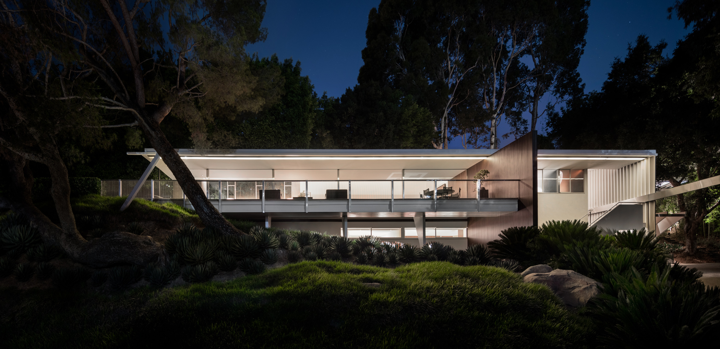 Neura Brown House, Bel Air, Modernist