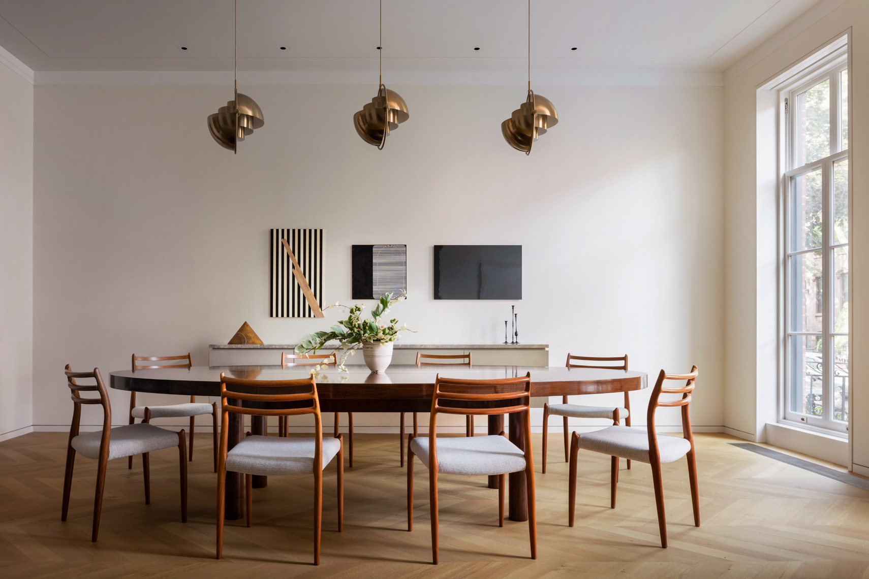 Dining Room, Steven Harris, Pendant Lights